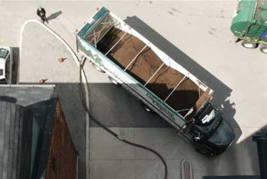 Sending Mulch to a Roof